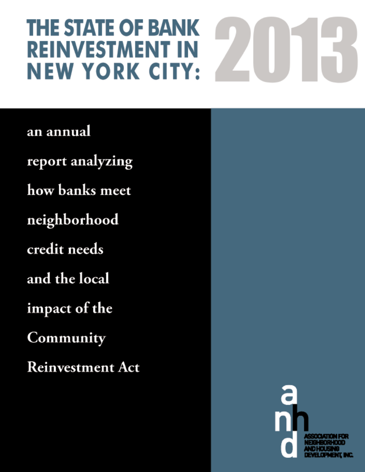 State of Bank Reinvestment in NYC 2009