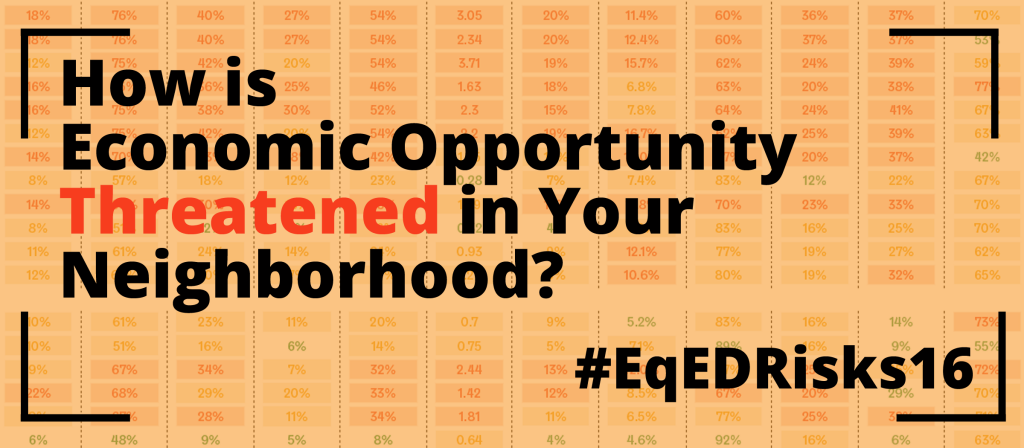 How is Economic Opportunity Threatened in Your Neighborhood? 2016