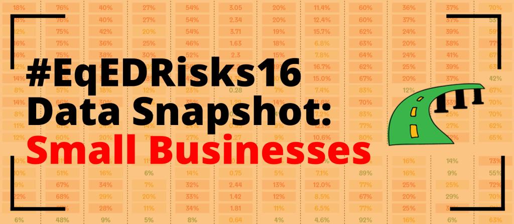 #EqEDRisks16 Data Snapshot: Small Businesses