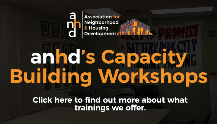 anhd's Capacity Building Workshops