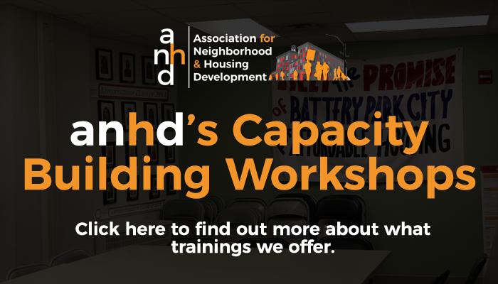 anhd's Capacity Building Workshops