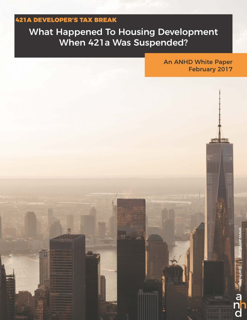 What Happened To Housing Development When 421a Was Suspended?