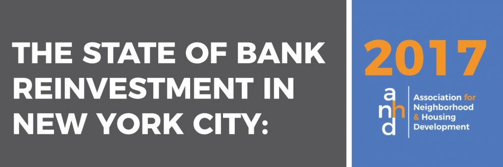 The State of Bank Reinvestment in New York City: 2017