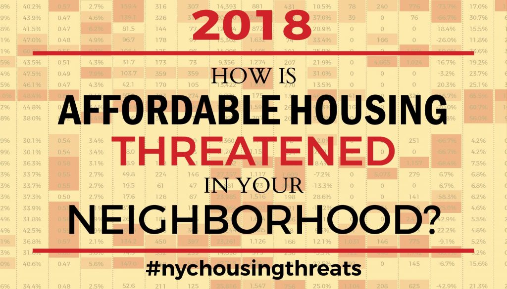 2018 How is Affordable Housing Threatened in Your Neighborhood?